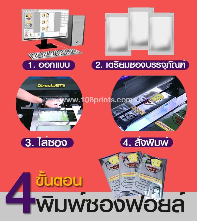 ถุงกระดาษคราฟท์-การพิมพ์ซอง