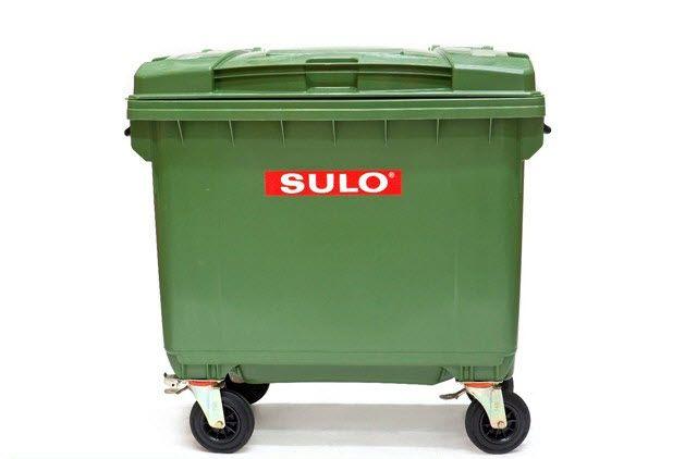 ถังขยะพร้อมล้อเข็น 660 ลิตร รุ่นฝาเรียบ