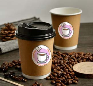 เครื่องปริ้นฉลากติดแก้วกาแฟ