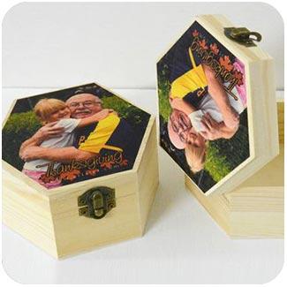 สกรีนกล่องไม้