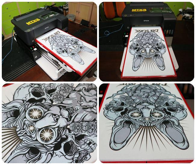 สกรีนเสื้อด้วยเครื่องพิมพ์เสื้อ