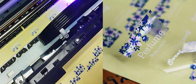 เครื่องพิมพ์สติ๊กเกอร์ขาว-ใส