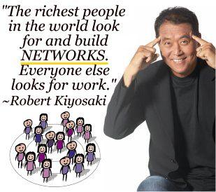 Rich Dad Poor Dad Rober Kiyosaki recommend network