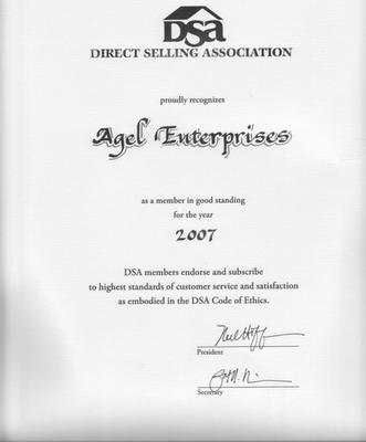 agel dsa member direct selling assocition สมาคมขายตรงอเมริกา เอเจล