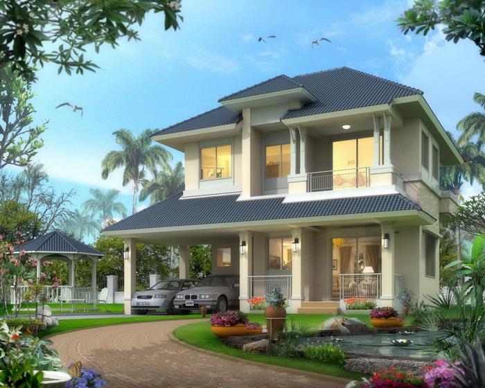รับสร้างบ้าน 2 ชั้น แบบบ้านราคา 3 ล้าน แบบบ้านบัวชมพู สร้างบ้าน 3-4 ล้าน อุ่นใจ บิลเดอร์ รับสร้างบ้าน