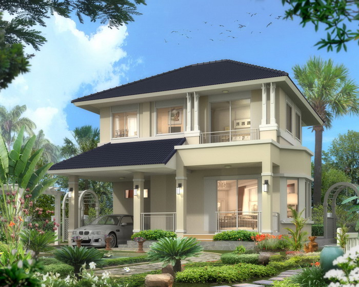 2 story house plan, 3 bedroom, home build in thailand
