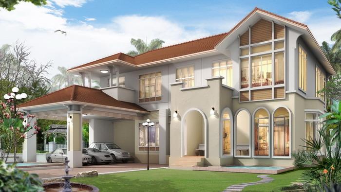 แบบบ้าน 8-10 ล้าน แบบบ้านสองชั้น สร้างบ้าน 2 ชั้น แบบบ้านใหญ่ แบบบ้านหรู อุ่นใจรับสร้างบ้าน