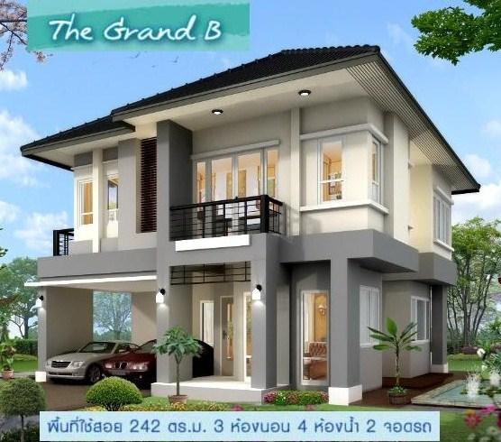 แบบบ้าน 3-4 ล้าน แบบบ้านสองชั้น สร้างบ้าน 3-4 ล้าน แบบบ้านสวย บ้านเดี่ยว 3 ห้องนอน