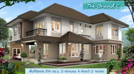 รับสร้างบ้านหรู บ้านหลังใหญ่ 300 ตารางเมตร ตรม 5 ล้าน