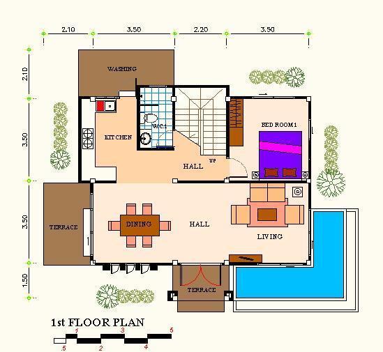 แปลนF1 แบบบ้านอิ่มใจ รับสร้างบ้าน