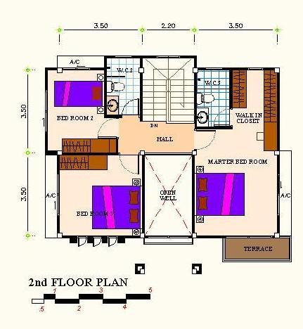 แปลนf2 แบบบ้านอิ่มใจ รับสร้างบ้าน
