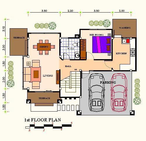 แปลนf1 แบบบ้านอิ่มอุ่น รับสร้างบ้าน