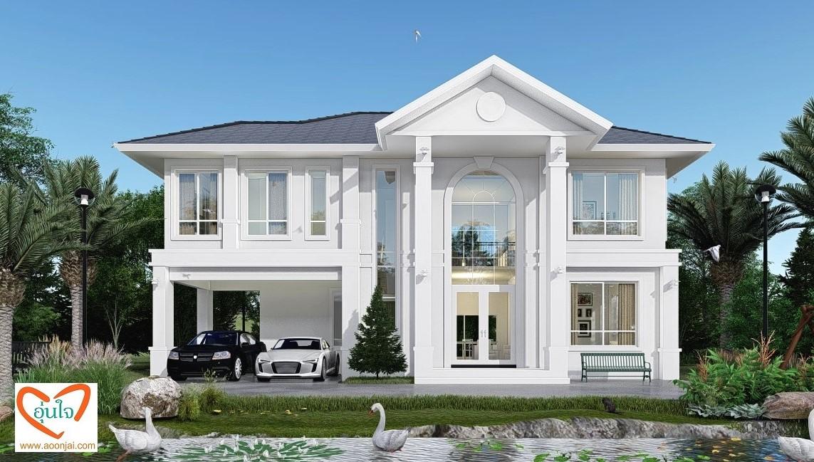 แบบบ้านหรู อุ่นใจรับสร้างบ้าน อุ่นใจบิลเดอร์ บิวเดอร์ บ้าน2ชั้น