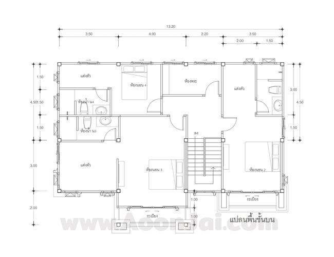 แบบบ้านหรู  แบบบ้าน ClassicA  บริษัท อุ่่นใจ บิลเดอร์ จำกัด รับสร้างบ้านทั่วประเทศ