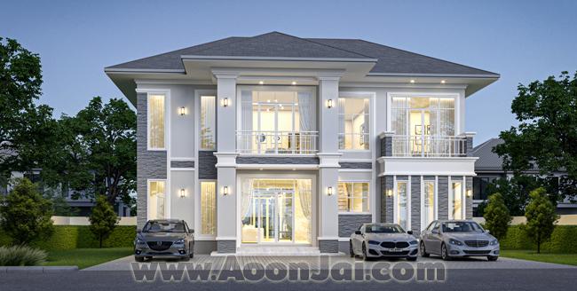 อุ่นใจ บิลเดอร์ บิวเดอร์ รับสร้างบ้านหรู แบบบ้านหรู คฤหาสน์ บ้านใหญ่ แบบบ้านเศรษฐี บ้าน 10 ล้าน สระว่ายน้ำ
