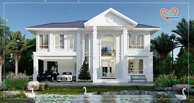 แบบบ้านพรีเมี่ยม แบบบ้าน ซานโตร่า  บริษัท อุ่่นใจ บิลเดอร์ จำกัด รับสร้างบ้านทั่วประเทศ