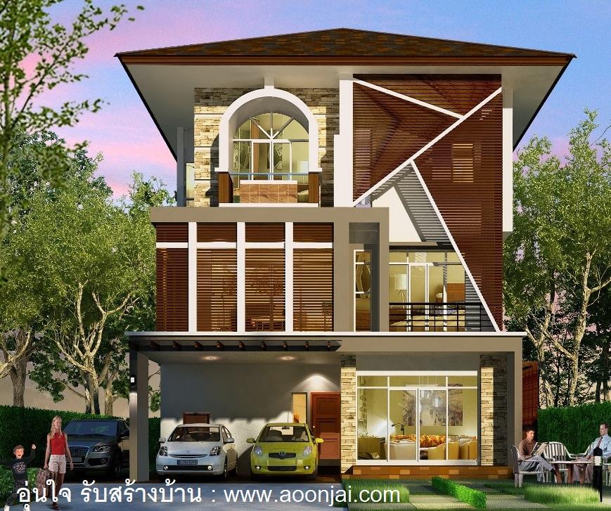 แบบบ้าน 3 ชั้น แบบบ้านโมเดิร์น modernโฮมออฟฟิศ homeoffice ทาวน์โฮม townhome รับสร้างบ้าน3ชั้น