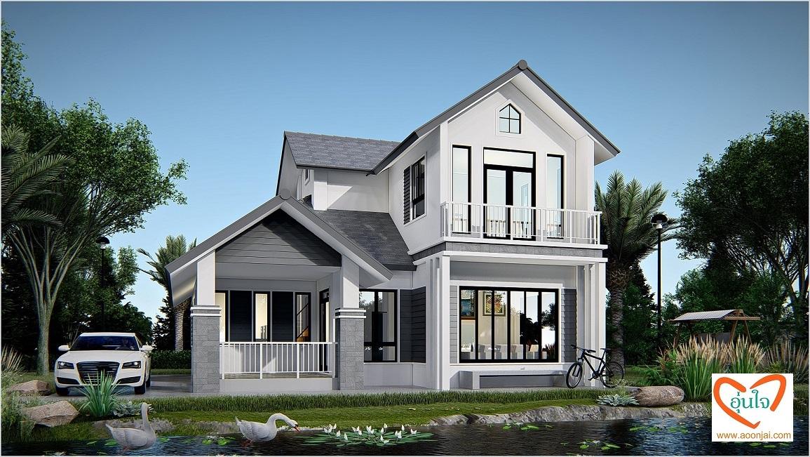 แบบบ้านเล่นระดับ บ้านชั้นครึ่ง สร้างบ้าน รับสร้างบ้าน อุ่นใจ บิวเดอร์ บิลเดอร์