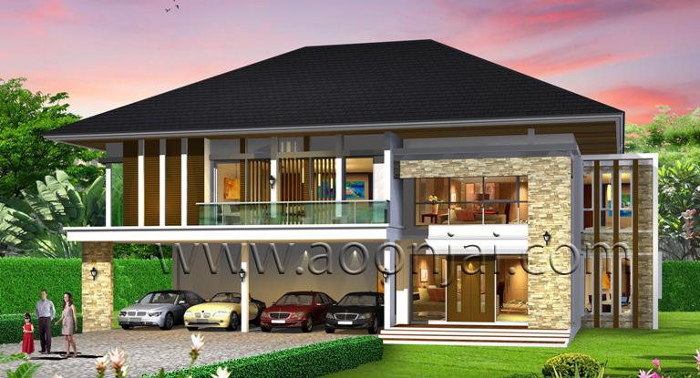 รับสร้างบ้านหรู แบบบ้านหรู บ้านหลังใหญ่ คฤหาสน์ ราคา 10-20 ล้าน