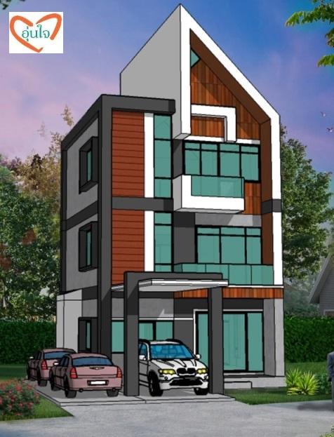 บ้านโมเดิร์น แบบบ้านโมเดิร์น 3 ชั้น modern house บริษัทรับสร้างบ้าน