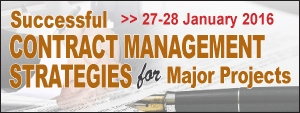 Successful Contract Management Strategies for Major Projects 2016