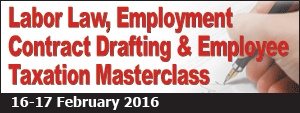 Labor Law, Employment Contract Drafting & Employee Taxation Masterclass