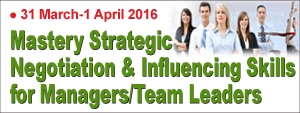Mastery Strategic Negotiation & Influencing Skills for Managers/Team Leaders