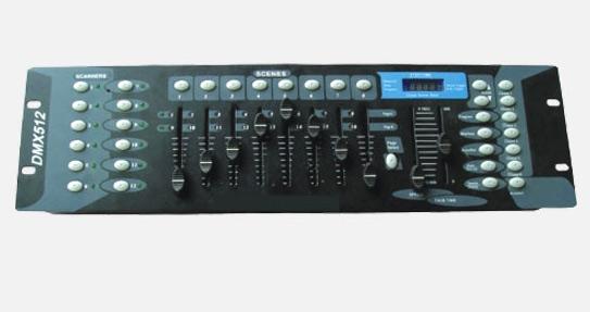 บอร์ดควบคุมไฟเวที DMX512 Controller up to 192 DMX Control 12 scanners with up to 16 channels