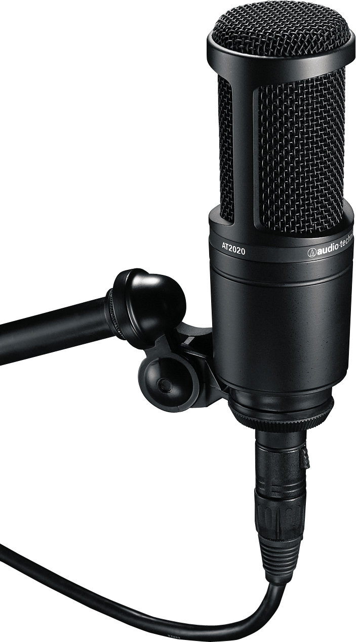 audio technica at2020 cardioid condenser microphone. Black Bedroom Furniture Sets. Home Design Ideas