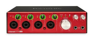 focusrite clarett 4pre usb 18 in 8 out usb 2 0 audio interface with 4 mic preamps and focusrite. Black Bedroom Furniture Sets. Home Design Ideas