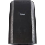 "QSC AD-S82 YM8T SYSTEM-BLK/WHT Surface mount, weather-resistant speaker, 8"" 2-way with 90° x 60° rotatable horn.  Includes yoke mount with 70/100V transformer. Available in black or white."