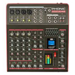 PHONIC CELEUS 400 เพาร์เวอร์มิกเซอร์ 8-CHANNEL ANALOG MIXER WITH BLUETOOTH-ENABLED ANALOG MIXER WITH DIGITAL EFFECTS, GRAPHIC EQ, CHANNEL COMPRESSORS, USB INTERFACE AND USB RECORDER/PLAYER