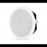 "QSC AD-C4T-LP ลำโพงเพดาน 4.5"" Two-way low-profile ceiling speaker, 70/100v transformer with 16Ω bypass, 150° conical DMT coverage, includes C-ring and rails for blind mount installation. Priced individually but must be purchased in pai"