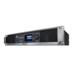 QSC CXD4.5Q 8000W Q-Sys Network Amplifier using FAST channel combining technology. 4 Mic/Line input channels, 1200 watts/ch at 8Ω, 2000 watts/ch at 4Ω, 1600 watts/ch at 2Ω, 1000 watts/ch direct drive 100V, 1250 watts/ch direct drive 70