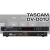 TASCAM DV-D01U A compact 1U size professional DVD player. The DV-D01U supports a wide range of formats including DivX, and can be controlled using the RS-232C. This also supports Power on Play function.