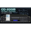 TASCAM CD-200IB เครื่องเล่น ซีดี The CD-200iB has all of the CD-200i's features plus balanced XLR outputs for professional installations.