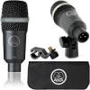AKG D40 Dynamic instrument microphone designed for drums and percussions, for wind instruments and guitar amps.