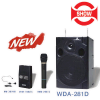 "SHOW WDA-281D Portable wireless teaching system 8"" woofer & 1"" tweeter 45W RMS + Wireless mic + CD MP3"