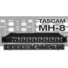 TASCAM MH-8 headphone amplifier,8 channels,2 stereo inputs.