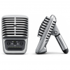 Shure MV51-A ไมโครโฟนอัดเสียง Digital Large-Diaphragm Condenser Microphone Includes with integrated stand, USB and Lightning Connects directly to any iOS device