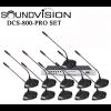 Soundvision DCS-800-PRO SET ชุดไมค์ห้องประชุมระบบดิจิตอล สำหรับผู้เข้าร่วมประชุม รวม 11 ท่าน (ไมค์ประธาน 1 ท่าน ไมค์ผู้ร่วมประชุม 10ท่าน)