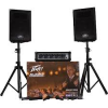 "PEAVEY Audio Performer pack 100 watt x 2,10"",2-mic,2-stands,2-cables,reverd,EQ"