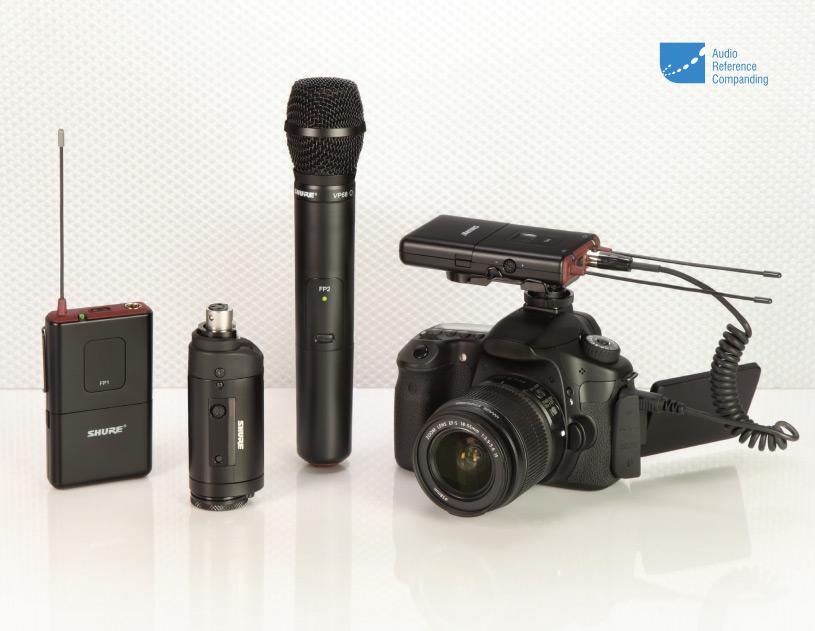 Shure FP25/SM58-R13 ไมโครโฟนไร้สายแบบมือถือ เครื่องรับติดกล้องถ่าย Video, ไมโครโฟนติดกล้อง Wireless ENG Handheld System 2 AA batteries