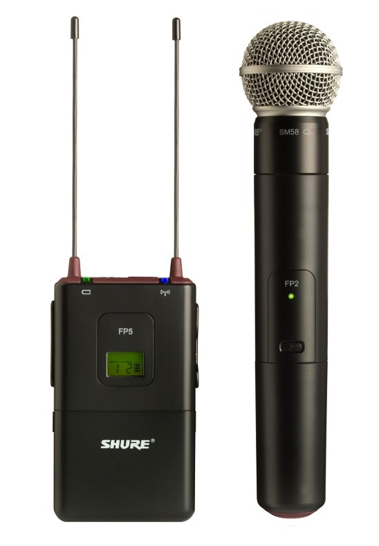 Shure FP25/SM58-R13 ไมโครโฟนไร้สายแบบมือถือ เครื่องรับติดกล้องถ่าย Video, ไมโครโฟนติดกล้อง Wireless Handheld System 2 AA batteries