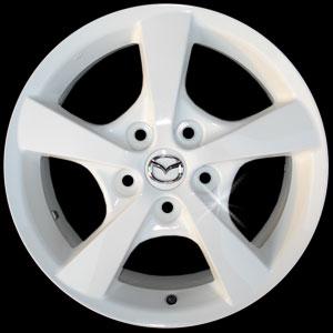 ล้อแม็ก Mazda3 16 นิ้ว นำมาทำเป็น สีขาว