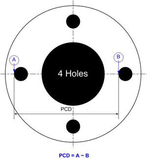 4 Holes PCD