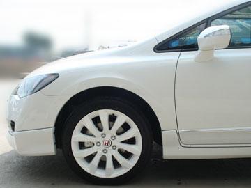 รถ Civic กับล้อแม็กสีขาว