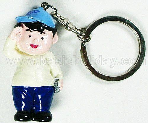 M 3168 พวงกุญแจแแแเรซิ่น เด็กชาย - Quality Week 2011 พวงกุญแจ ตุ๊กตา เรซิ่น Mascot ปั้นตามแบบ ของพรีเมี่ยม ของที่ระลึก ของแถม