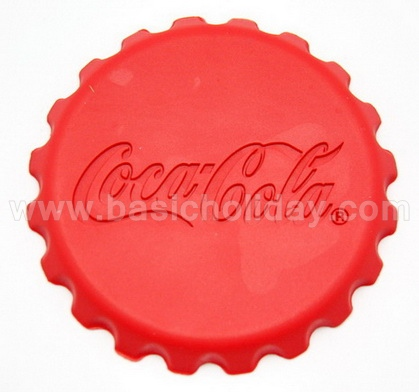 ที่รองแก้วยาง รับผลิตที่รองแก้ว รองแก้วยางหยอดพรีเมี่ยม แผ่นรองแก้ว ที่รองแก้วยางหยอด ยางรองแก้วหน้านูน ด้านหลังโลโก้จม - Coca Cola