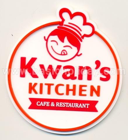 ที่รองแก้วยาง รับผลิตที่รองแก้ว รองแก้วยางหยอดพรีเมี่ยม แผ่นรองแก้ว ที่รองแก้วยางหยอด ยางรองแก้วไดคัทตามแบบ-Kwan's Kitchen